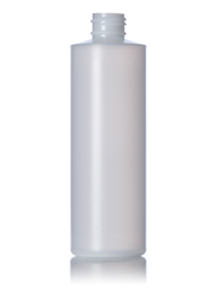 Nothing Found: 8 oz natural-colored HDPE cylinder round bottle with 24-410 neck finish
