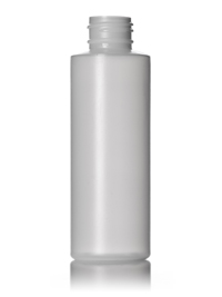 Nothing Found: 4 oz natural-colored HDPE cylinder round bottle with 24-410 neck finish