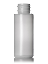 Nothing Found: 2 oz natural-colored HDPE cylinder round bottle with 24-410 neck finish