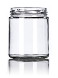 Nothing Found: 9 oz clear glass straight-sided round jar with 70TW neck finish