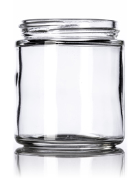 Nothing Found: 4 oz clear glass straight-sided round jar with 58-400 neck finish