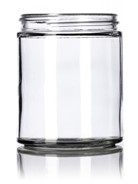 Nothing Found: 6 oz clear glass straight-sided round jar with 63-400 neck finish