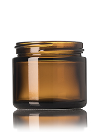 Nothing Found: 2 oz amber glass straight-sided round jar with 53-400 neck finish