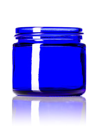 Nothing Found: 2 oz cobalt blue glass straight-sided round jar with 53-400 neck finish