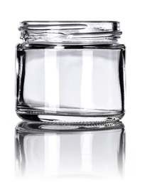 Nothing Found: 2 oz clear glass straight-sided round jar with 53-400 neck finish