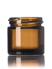 Nothing Found: 1 oz amber glass straight-sided round jar with 43-400 neck finish