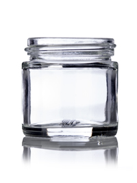 Nothing Found: 1 oz clear glass straight-sided round jar with 43-400 neck finish