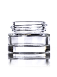 Nothing Found: 1/4 oz clear glass thick wall jar with 33-400 neck finish