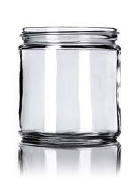 Nothing Found: 16 oz clear glass straight-sided round jar with 89-400 neck finish
